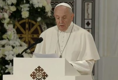 Đức Thánh Cha nói về 'Kinh Lạy Cha' trong Nhà thờ Chính tòa Cứu độ Chính thống giáo ở Bucharest