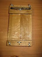 Деревянная форма для хозяйственных свечей диаметр 16 мм, высота свечи 210 мм, в форме 10 шт.