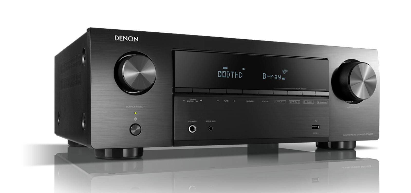 Amply Denon X550BT đa kênh 5.2 chaaa + Bộ loa 5.1 Klipsch F200 - 2