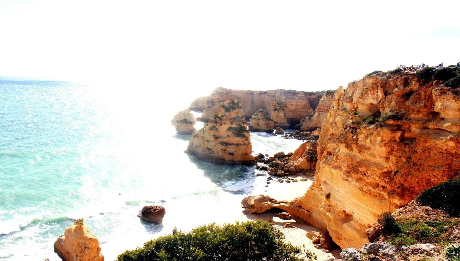 Marinha beach portugalske faro