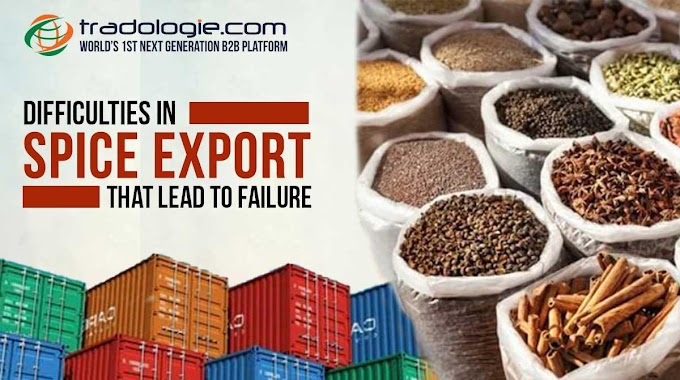 Difficulties in spice export that lead to failure
