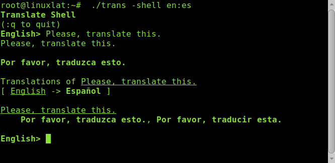 traductor consola terminal linux