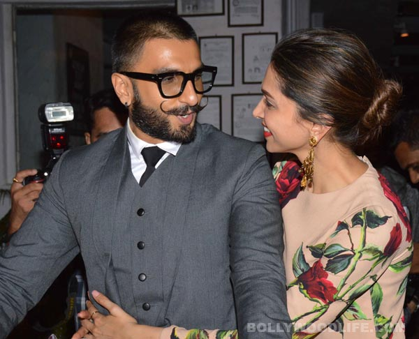 #5. Love birds during the promotion of 'Bajirao Mastani'.