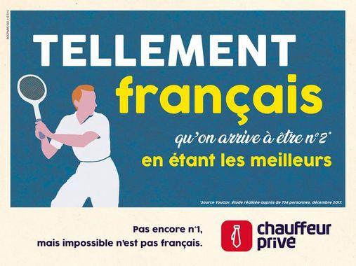 Affiche Chauffeur Privé Tellement Français Métro 2018