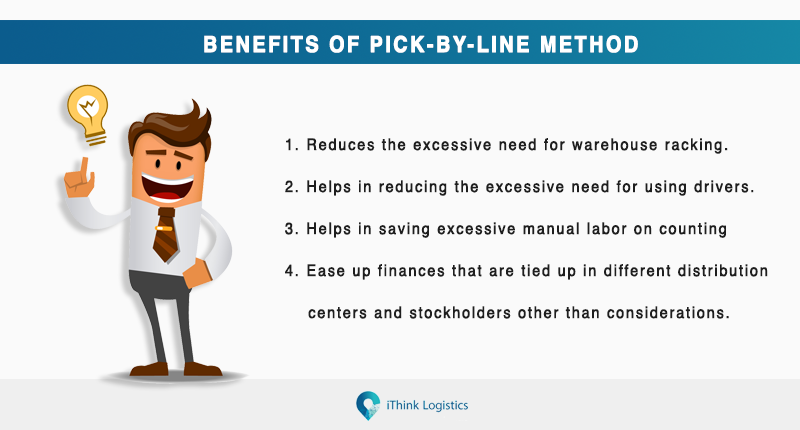 Benefits of pick by line method