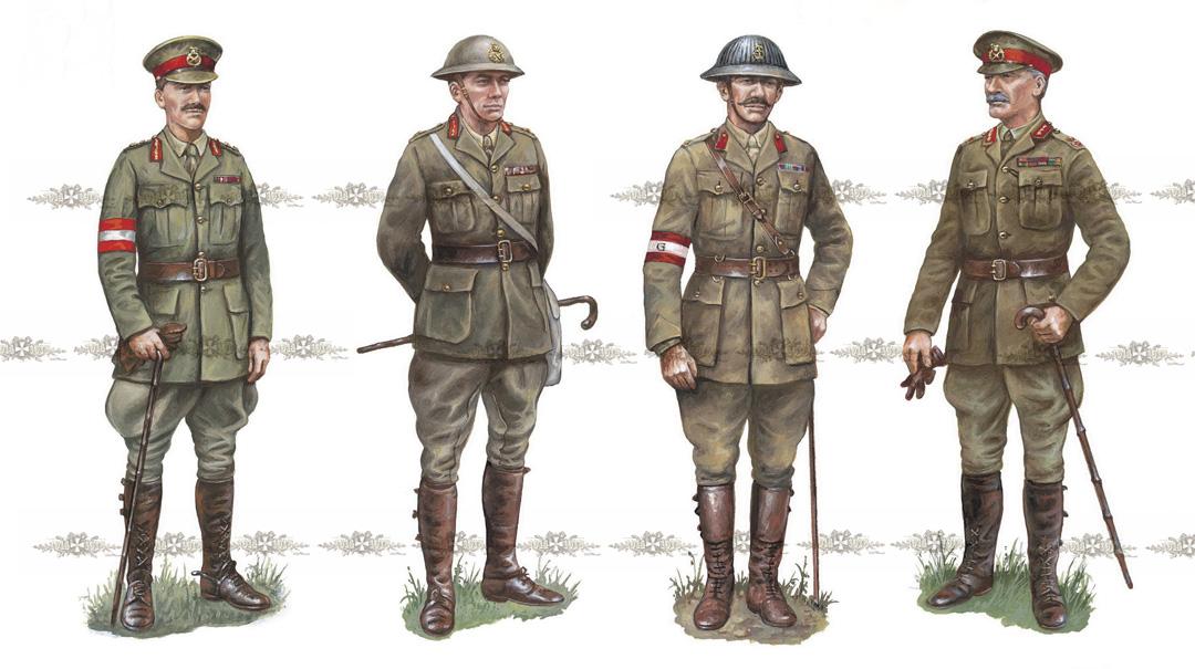 британские офицеры (1915-1917 годы)