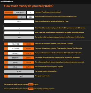 Profit Generator App | Service Industry Software