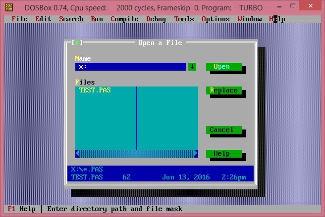 Pascal with dosbox lưu bài vào thư mục chỉ định - Em Yêu Tin Học
