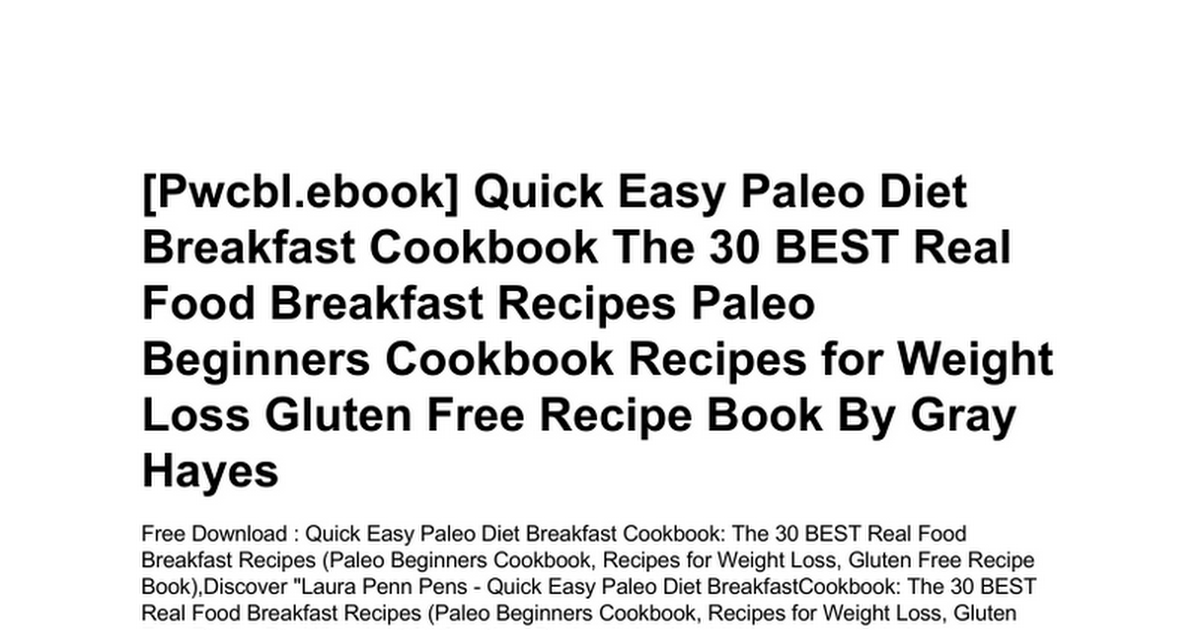 paleo diet breakfast recipes paleo diet easy breakfast recipe cookbook
