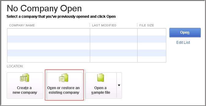 No Company Open box;QuickBooks Single user Can't Switch to Multiuser Mode