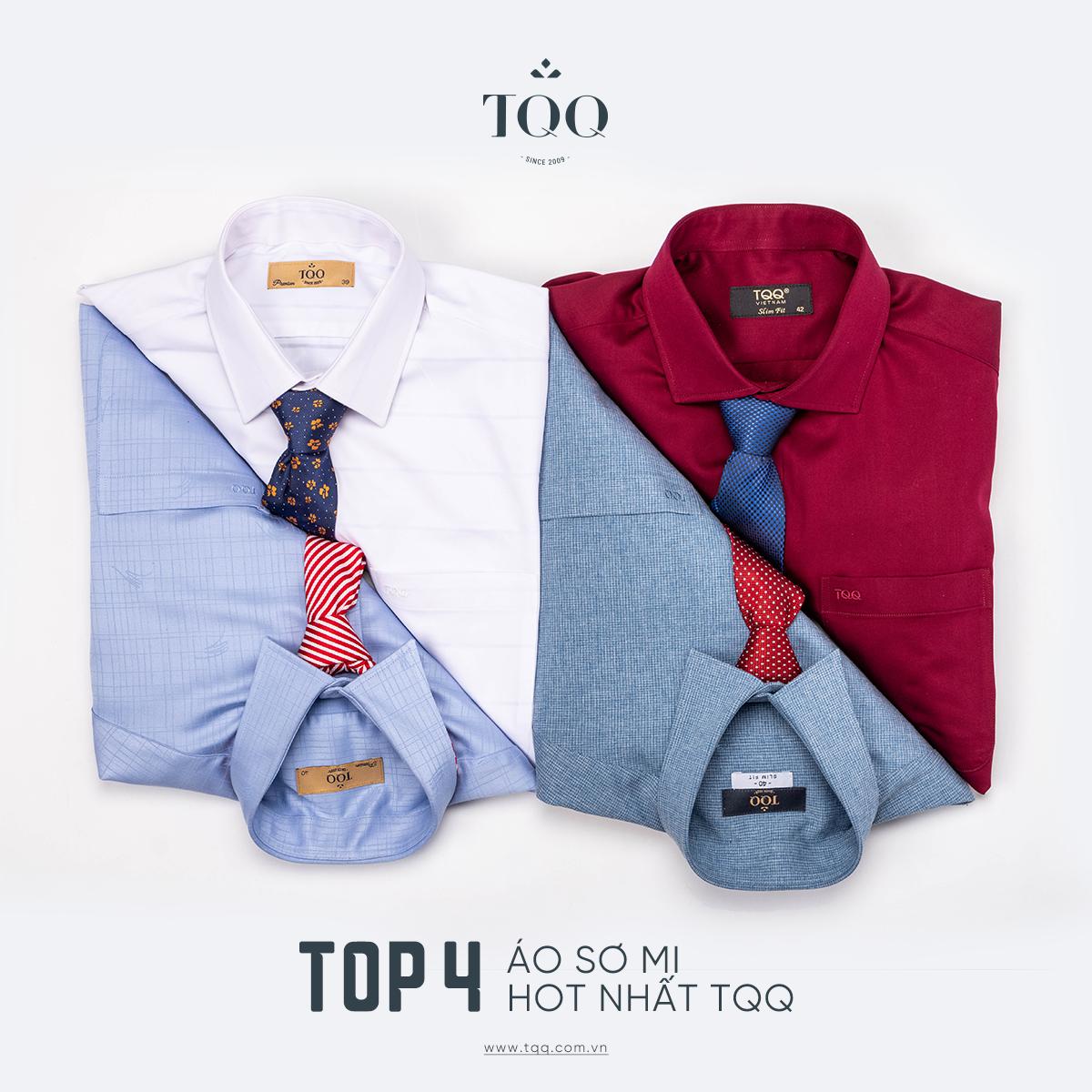 Sơ mi TQQ đa dạng về màu sắc, phù hợp với nhiều như cầu, sở thích thời trang của các quý ông