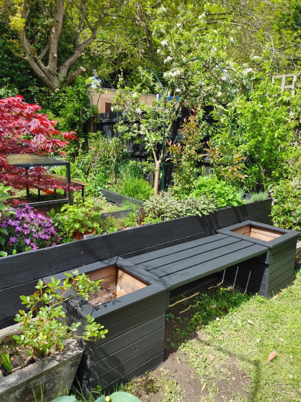 The bench is a key part to the garden makeover