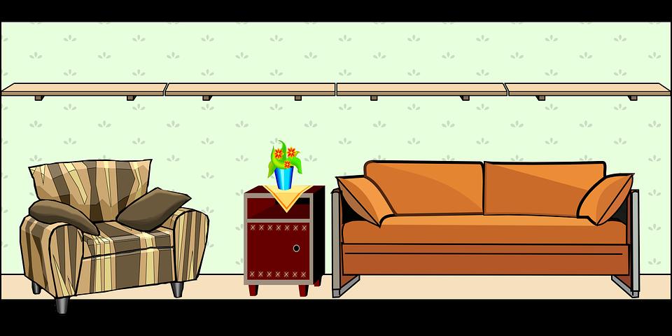 Casa, Parede, Tabela, Quartos, Cadeira, Sofá