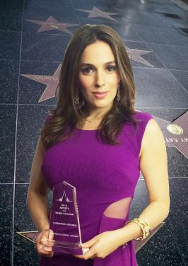 Christina DeRosa accepts Artist In Cinema Award.jpg