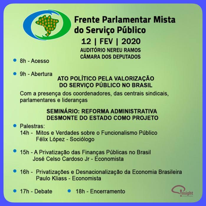 DIA 12/02: CONVITE À REAÇÃO E DEMONSTRAR FORÇA NO CONGRESSO.
