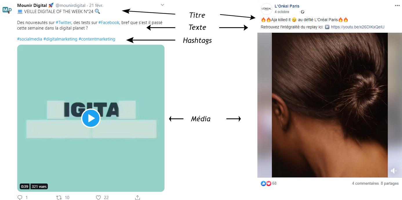 modèle exemple visuel pour comment créer une charte social media