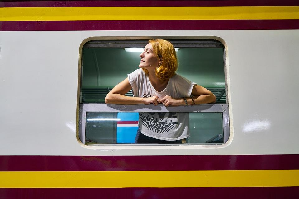 Train, Old, Vintage, Women, Woman, Girl, Station