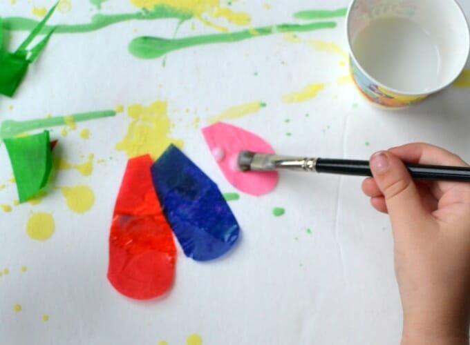 Гравитационная живопись для детей