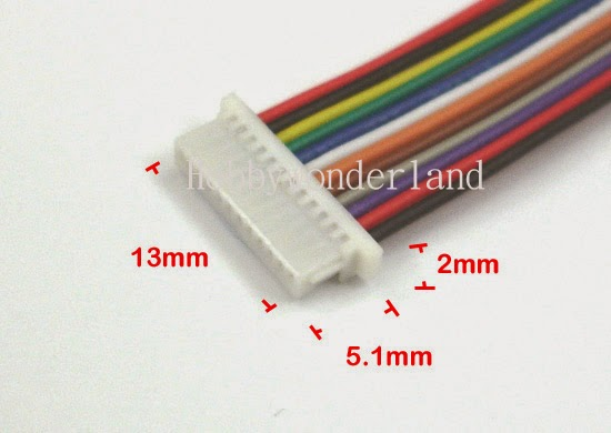Jst 1 0mm Sh 12 Pin Connector Housing With Wire 28awg
