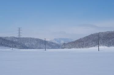 ご自宅前から見える冬の暑寒岳