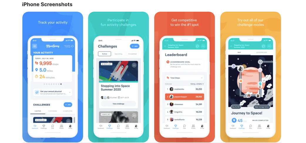 Move Spring: Wellness challenge app for employees