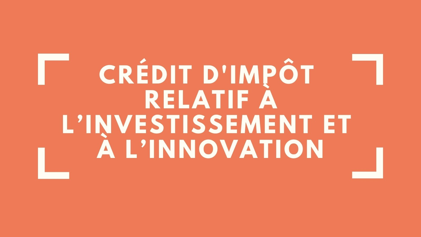 Subvention d'investissement Québec sous forme de crédit d'impôt relatif à l'investissement et à l'innovation