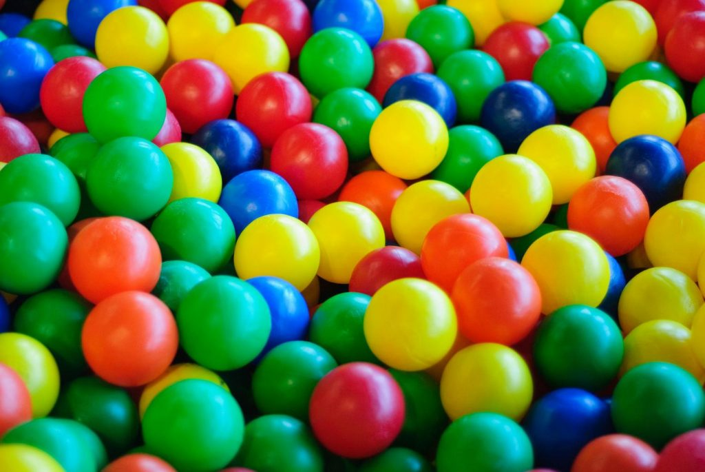 Ball pits for mental stimulation and activity