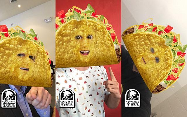 Taco Bell Snapchat masks