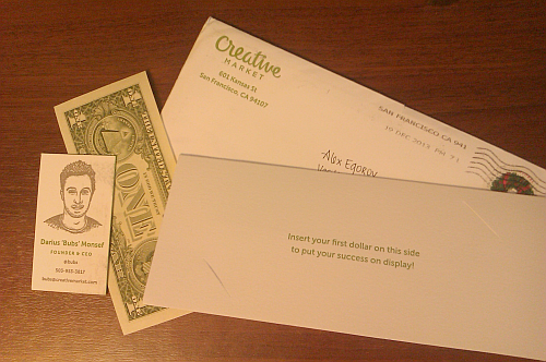 Creativemarket letter with dollar