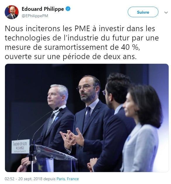 Edouard Philippe - PME - investissement