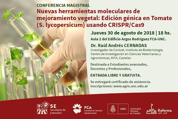 Conferencia magistral: Nuevas herramientas moleculares de mejoramiento vegetal