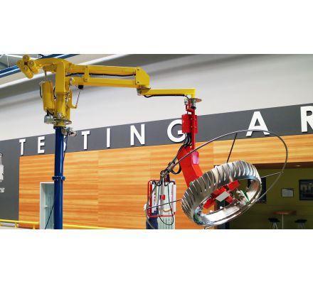Tay máy nâng hạ cho kết cấu kim loại, linh kiện, phụ tùng