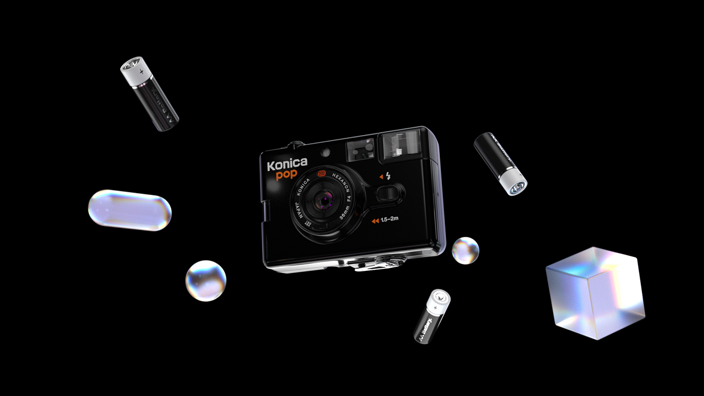 3D c4d camera cinema4d motion motion design octane smooth video ad vintage