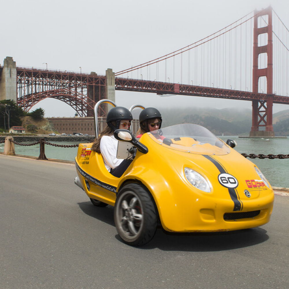 GoCar tour near the Golden Gate Bridge