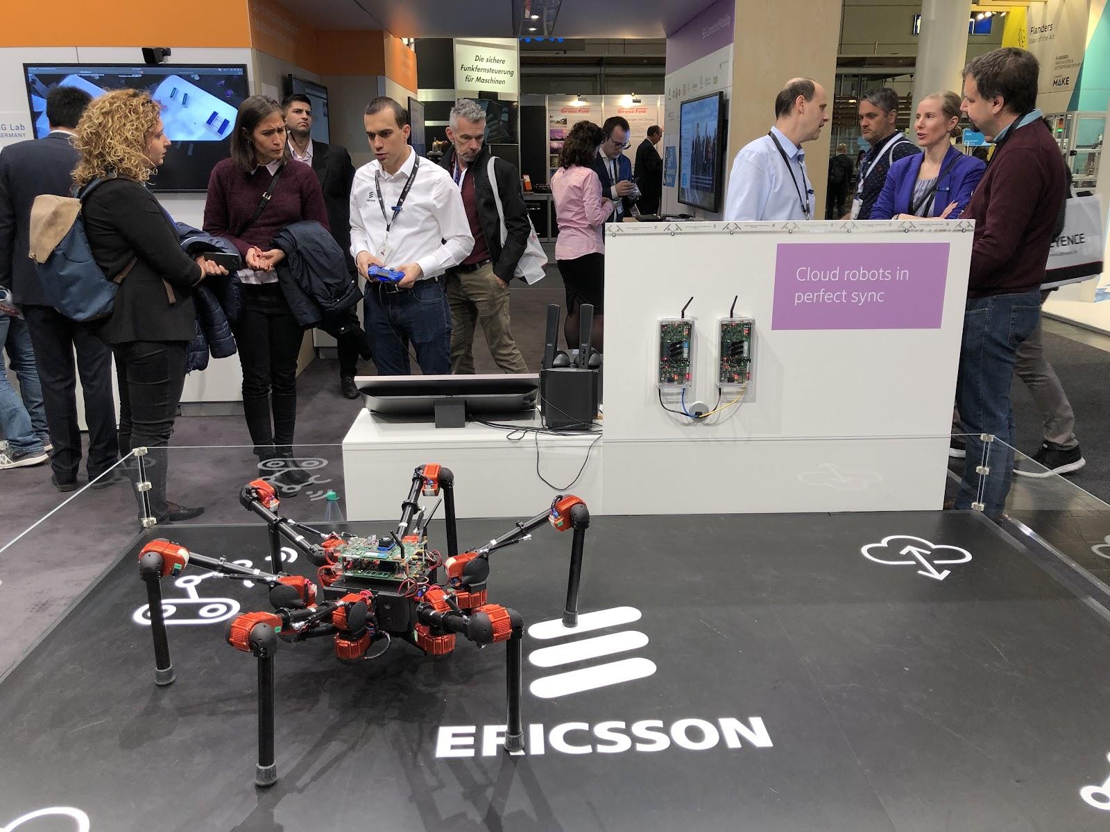 Demostrador robótico de Ericsson utilizando las tecnologías 5G