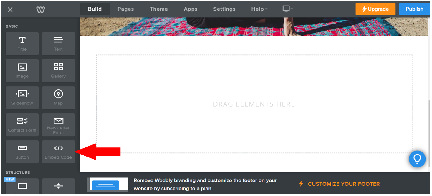 Weebly page builder