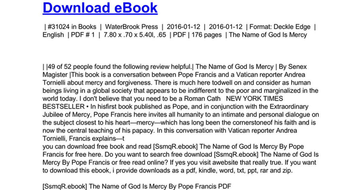 The Name Of God Is Mercyc Google Docs
