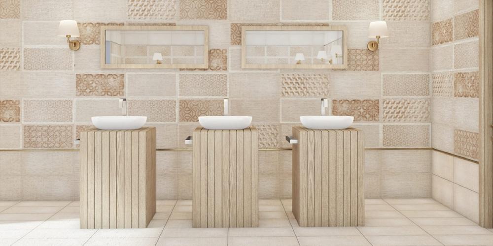 Gạch ốp tường ở nhà vệ sinh