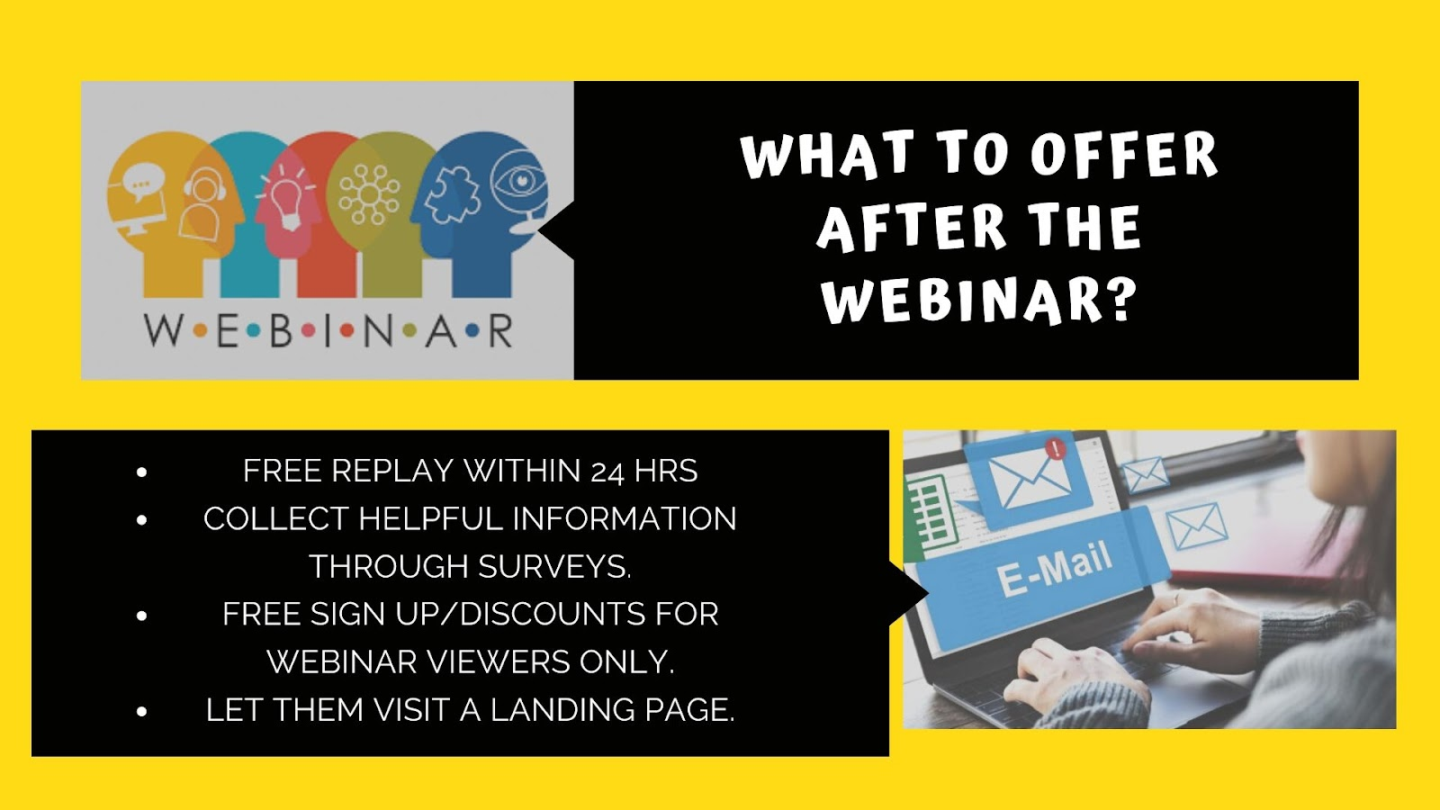 "<img src=""how_to_add_a_webinar_that_converts_what_to_offer_after_the_webinar.png"" alt=""List of things that you can offer after the webinar has ended ""/>"