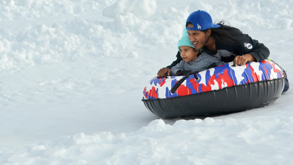 Lốp trượt tuyết không cần nhiều công nghệ tiên tiến, ngay cả trẻ 5 tuổi cũng có thể thử