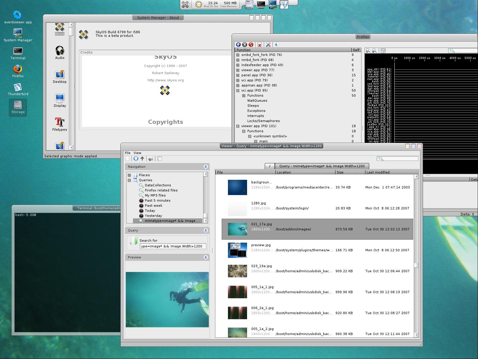 Abandonado desde meados de 2009, o SkyOS ainda pode ser usado!