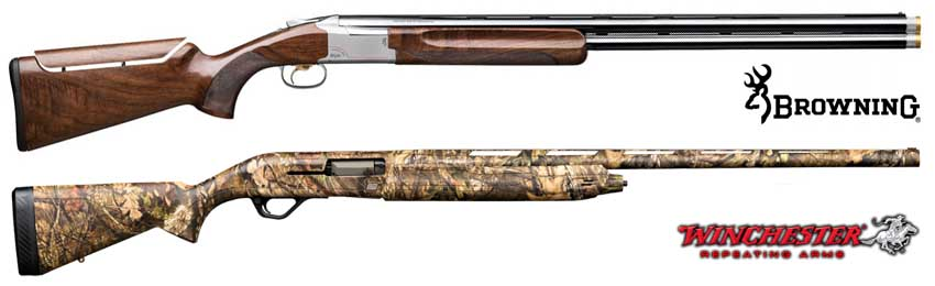 Browning and Winchester shotguns