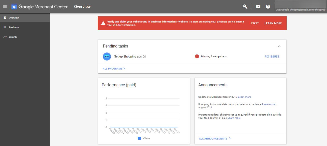 XML-feed создается для добавления товаров в Google Merchant Center