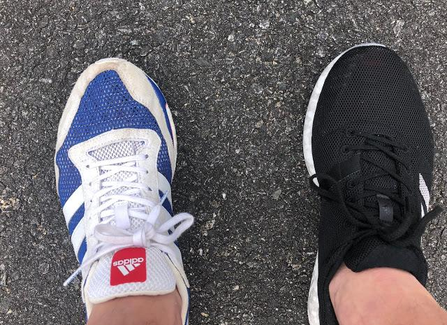 When compared to the adios Boost 3 at the same size what is most  noticeable 46698f456