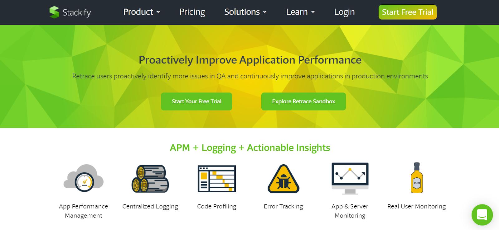 Retrace Server monitoring software