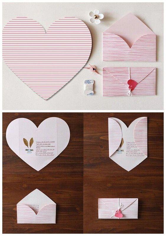 心型信紙變信封生日卡