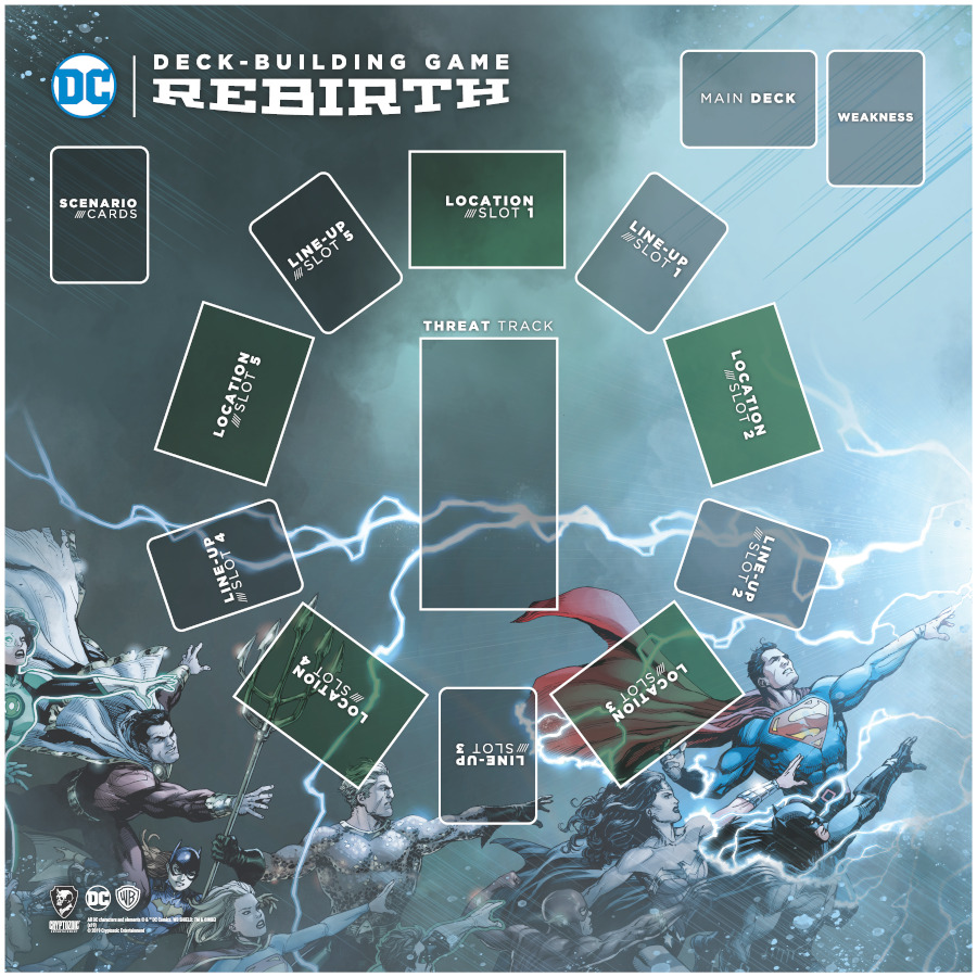 DC Deck-Building Game: Rebirth Playmat
