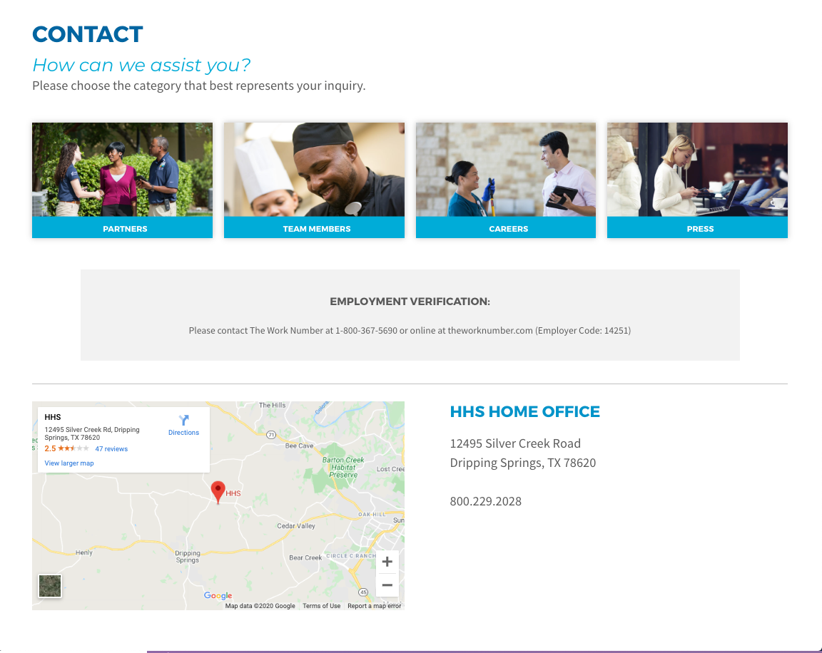 New contact page design