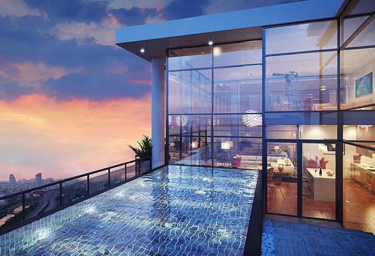 Kết quả hình ảnh cho căn hộ có hồ bơi