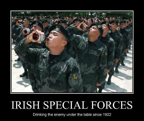 St. Patrick's Day joke on Irish Special Force